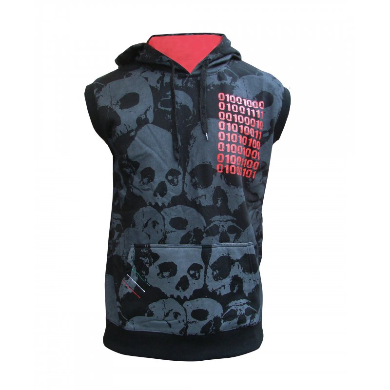 Hoodie bloody hands sleeveless