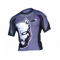 Rash Guard POWD2 half pit -GREY