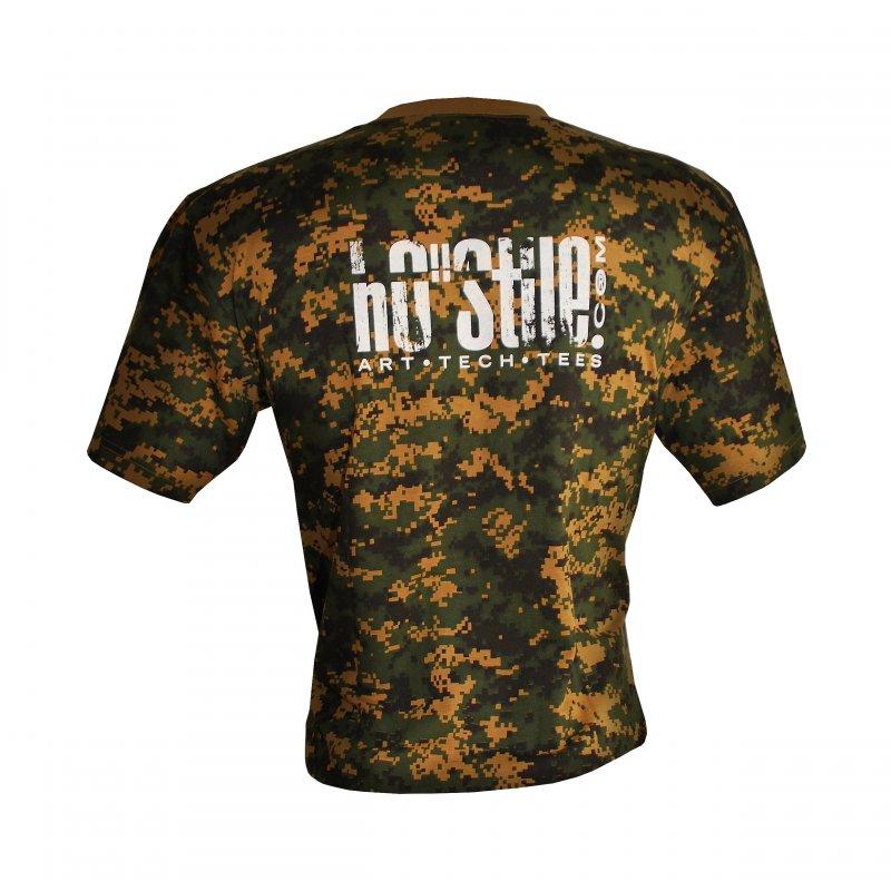 T-shirt Digital CAMO Woodland