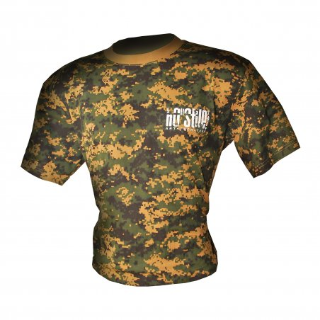 T-shirt Digital - Camouflage woodland